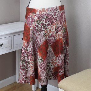 C.J Banks Paisley Skirt